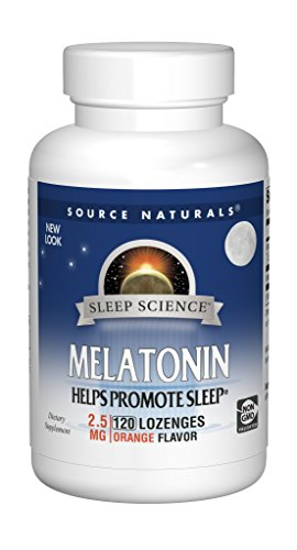 Source Naturals Sleep Science Melatonin Liquid Sleep Support - Orange Flavor Promotes Restful Sleep and Relaxation - Supports Natural Sleep/Wake Patterns and Rhythms - Fast-Acting - 120  Lozenges