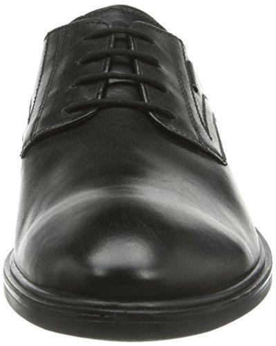 Geox U Yoris A ABX, Scarpe Stringate Uomo Nero (Black C9999)
