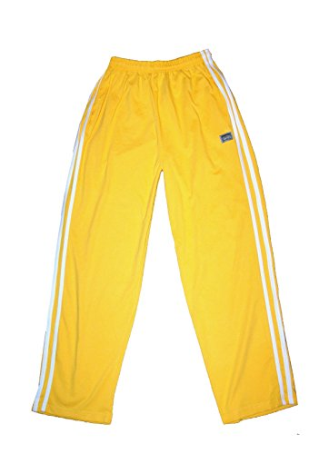 - California Crazee Wear Yellow With White Stripe Relaxed Fit Pants