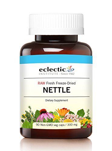 Eclectic Nettles Leaf Freeze Dried Vegetables with Glass, Blue, 90 Count (Freeze Dried Leaf Nettle)
