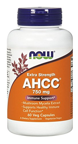 Now Foods AHCC 750 mg - 60 Vcaps 2 Pack