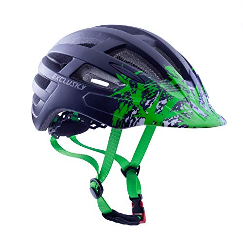 Exclusky Adult Bike Helmets Ultralight for Urban Commuter – Adjustable M L Size 22-24 Inches
