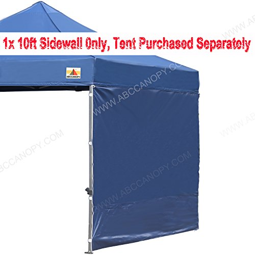 ABCCANOPY 15+colors 10' Sun Wall for 10'x 10' straight leg pop up canopy Tent, 10' Sidewall kit (1 Panel) with Truss Straps, (navy blue)