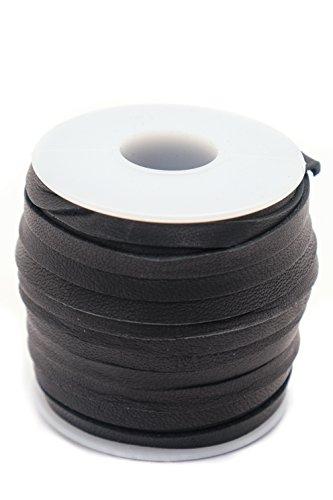 """Deerskin Lace 3/16"""". 50 foot spool. Black."""