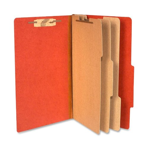 [ACCO 16038 ACCO Pressboard 25-Point Classification Folder, Lgl, 8-Section, Earth Red, 10/Bx] (Eight Section Pressboard Classification Folders)
