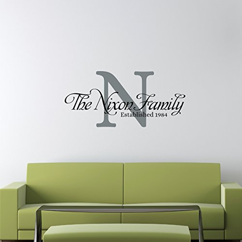 Custom family name wall decal personalized name wall sticker custom name wall sign