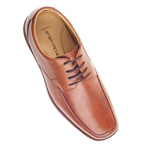 Steptronic Jiotto Marron clair cuir de veau avant ouvert décontracté Chaussures à lacets de luxe pour plus de confort