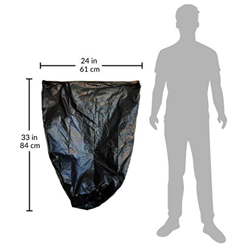 Reli. Trash Bags, 13 Gallon (Wholesale 1000 Count) - Star Seal High Density Rolls (Black) - Can Liners, Garbage Bags with 13 Gallon (13 Gal) to 16 Gallon (16 Gal) Capacity by Reli. (Image #5)