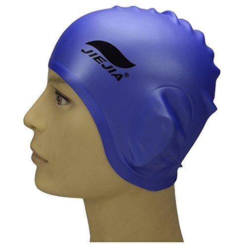 SISTER LUM JIEJIA Swim Cap for Women and Men Swimming Cap Long Hair to Keep Hair Dry and Ear Covers