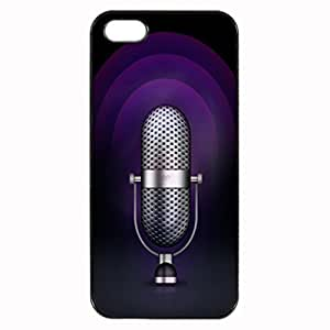 Microphone Image Protective Iphone 6 plus 5.5 / Iphone 5 Case Cover Hard Plastic Case for Iphone 6 plus 5.5