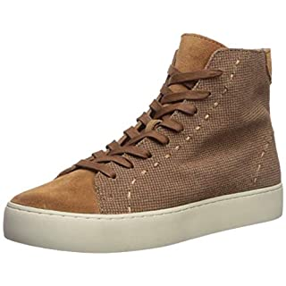 FRYE Women's Lena High Top Shoe, Camel, 7 M US