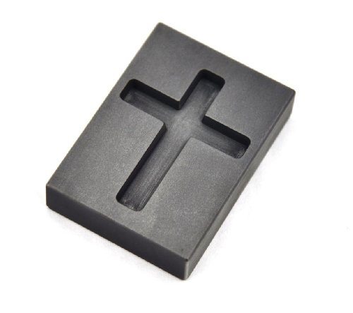Graphite Finish Pendants - 1 oz Troy Ounce Cross Gold Graphite Ingot Mold For Melting Casting Refining Pouring Gold Religious Pendant Jewelry Necklace