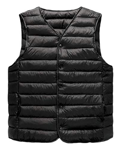 Jacket Gocgt Slim Men's Black Packable Lightweight Puffer Down Vest YwBqRBf
