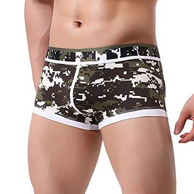 YJYdada Men's Underwear Men Patchwork Underwear Print Boxer Briefs Shorts Bulge Pouch Underpants