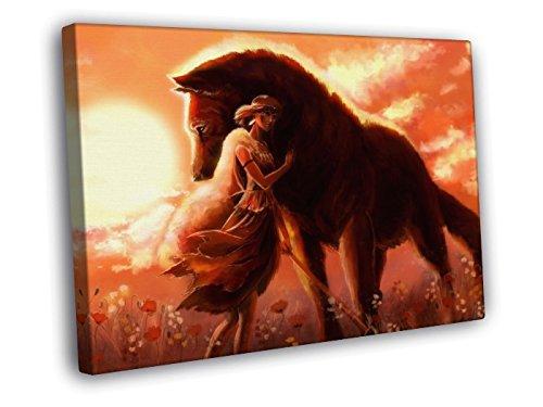 Amazon.com: h3 V6244 Princesa Mononoke hermosa Lobo ...