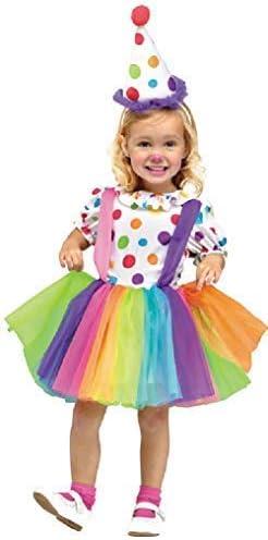 Fancy Me Disfraz de Payaso para niñas de 3 a 4 años: Amazon.es ...