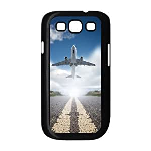JFLIFE Airplane Phone Case for samsung galaxy s3 Black Shell Phone [Pattern-1]