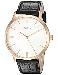 GUESS Men's U0664G4 Rose Gold/Black