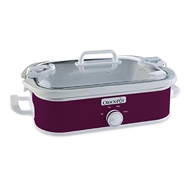 Crock-Pot SCCPCCM350-CR Casserole Crock Slow Cooker, 3.5-Quart, Perfect Plum