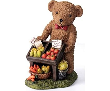 Kelkay – Carrito de frutas y Veggie oso resina Estatua