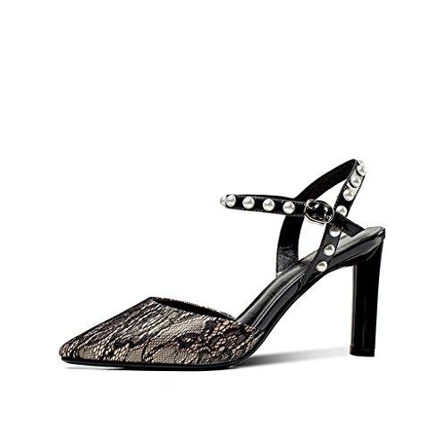 Zapatos Encaje Hebilla Hechizo Mujeres Jóvenes De Sexy Femenina De Hadas Color Zapatos con Gruesa Sandalias Tacones Altos YUBIN De Nuevas Femeninas Tomar Moda Una Palabra 0zxdZZR