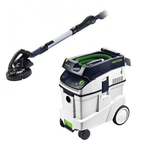 Festool P48571579 Planex Drywall Sander with CT 48 E 12.7 Gallon HEPA Dust Extractor by Festool