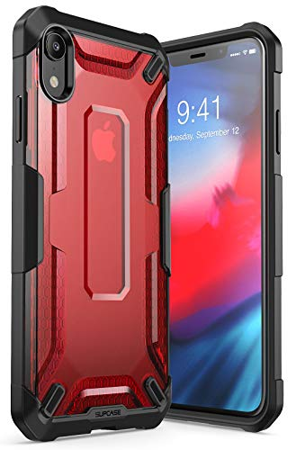 SUPCASE [Unicorn Beetle Series] Case for iPhoneXR, Premium Hybrid Protective TPU and PC Clear Case for iPhoneXR 6.1 Inch 2018 Release (Red)