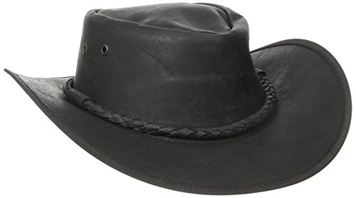 Henschel Soft Cowhide Outback Hat, Black, Large