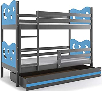 Miko - Litera para niños con amplio contenedor de almacenaje, dormitorio para niños, colchones de espuma incluidos: Amazon.es: Hogar