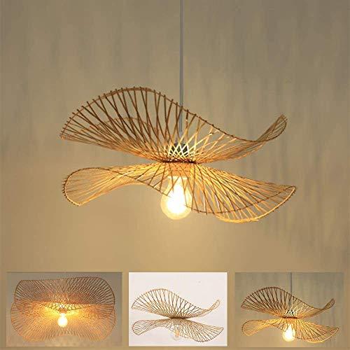 Natuurlijke bamboe hanglamp Handgeweven bamboe hanglamp In hoogte verstelbare E27 Kroonluchter Verlichting Villa…