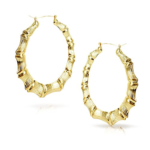 Buy bamboo hoop earrings for women
