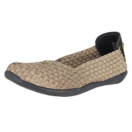 f760c74fb Bernie Mev Women's Braided Catwalk Bronze Flats - 37 ...