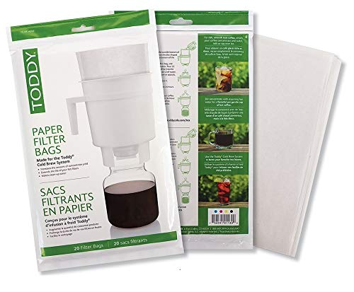 Toddy THMPF20 Paper Filter Bags, Home Model Filters, Natural, Pack of 20 by Toddy (Image #3)