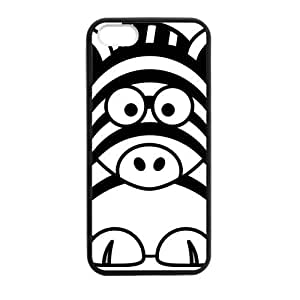 Cool Generic Custom Vintage Zebra Design Plastic and TPU Black and White Case Cover for iPhone5 iPhone5S