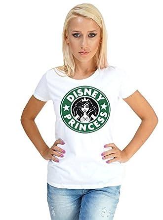 Im A Disney Princess Starbucks Logo White T Shirt