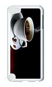 Ipod 5 Case,MOKSHOP Cute Coffee Hot Hard Case Protective Shell Cell Phone Cover For Ipod 5 - PC White