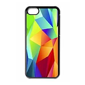 XiFu*Meiiphone 6 plua 5.5 inch Case,Colorful Red Blue Green Triangles Hard Shell Back Case for Black iphone 6 plua 5.5 inch Okaycosama360670XiFu*Mei