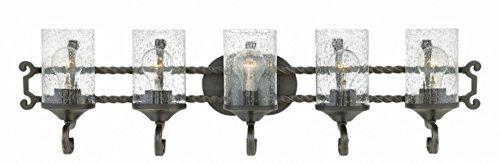 Hinkley 5545OL-CL Casa Vanity, 5-Light 500 Total Watts, Olde Black