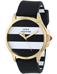 Juicy Couture Womens 1901098 Jetsetter Black and White Stripe Dial Watch