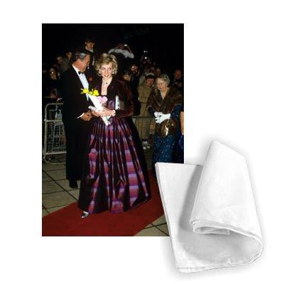 Princess Diana at St Davids Hall, Cardiff,.. - Tea Towel 100%