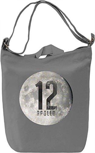 Apollo Moon Borsa Giornaliera Canvas Canvas Day Bag  100% Premium Cotton Canvas  DTG Printing 