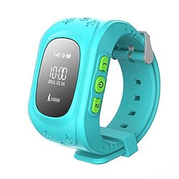 Reloj para Niños, TKSTAR Kids Smartwatch GPS Tracker con Localizador para Niños Niñas SIM Anti-perdida SOS Compatible con Android/IOS Smartphone BLU ...