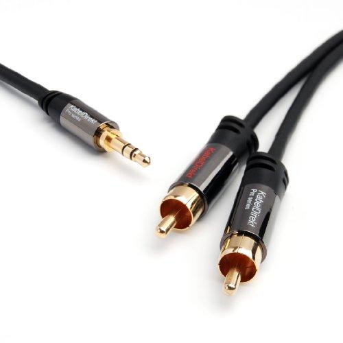 KabelDirekt 1,5m 3.5mm auf 2 Cinch Y Kabel - PRO Series