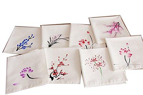 UQ Ladies Chinese Antique Style Soft Cotton Linen handkerchiefs