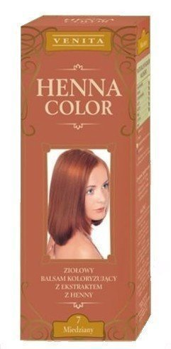 Henna Color 7 Copper Hair Balm Hair Color Ecological Effect Of