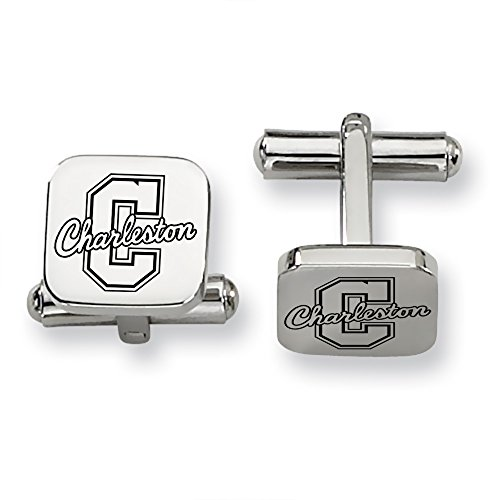 Charleston Cougars Stainless Steel Square Cufflinks