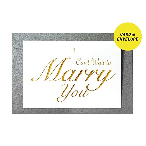Ihopes Wedding Day Foiled Card | I Can't Wait to Marry You Gold Foil Cards with Envelopes | Wedding Vow Card with Gold Foil | to Bride or Groom Wedding Day Card Wedding Gifts Card Love Note