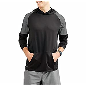 Russell Mens Hyperflux 360 LS Athletic Hoodie (XL, Black)