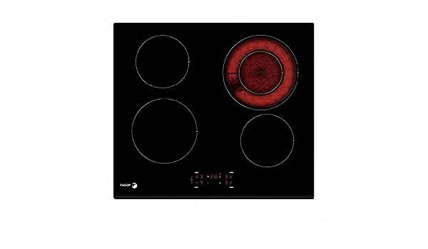 Fagor - Placa vitrocerámica fpv4240s con 4 zonas de cocción ...
