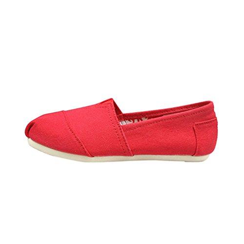 Loafers Plat Décontractée Mode Unie Chaussures Femmes Rouge Hommes Couleur Confort Dooxi Espadrilles q1OtIx